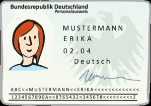 Ein Personal-Ausweis (Musterbild)