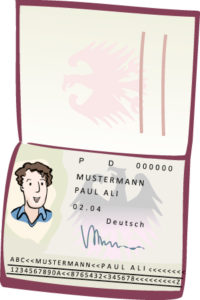 Ein Reisepass (Musterbild)
