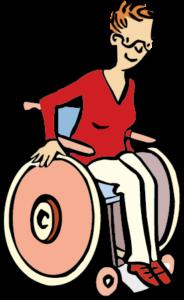 Ein Mann im Rollstuhl