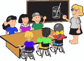 Kinder in einem Klassenzimmer.