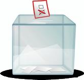 Eine Wahl-Urne (Musterbild)